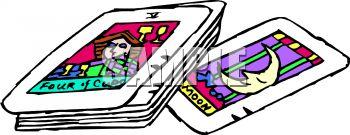 Royalty Free Clip Art Image: Tarot Cards.