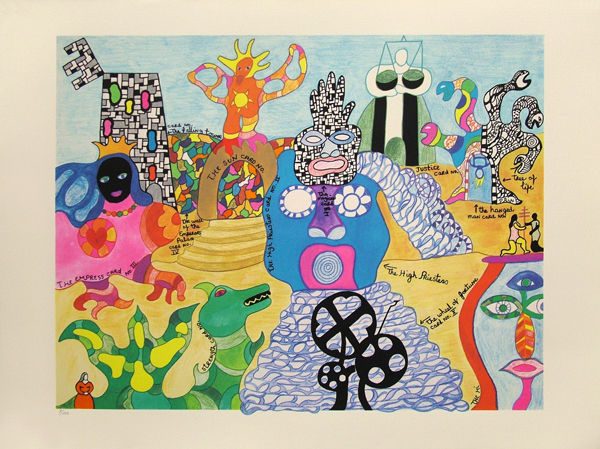 Niki de Saint Phalle of Nohra Haime Gallery.