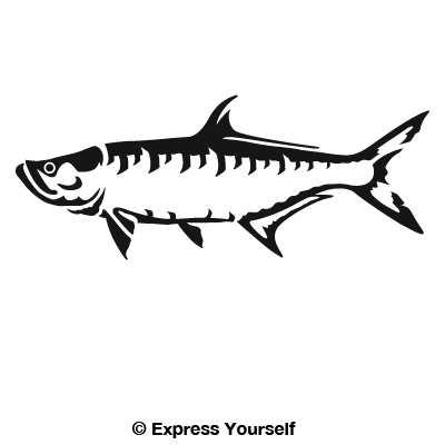 Tarpon Fish Silhouette.