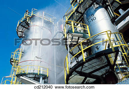 Stock Photography of Hydrocracker. Repsol.