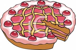 Free Clipart Image: A Cherry Tart.