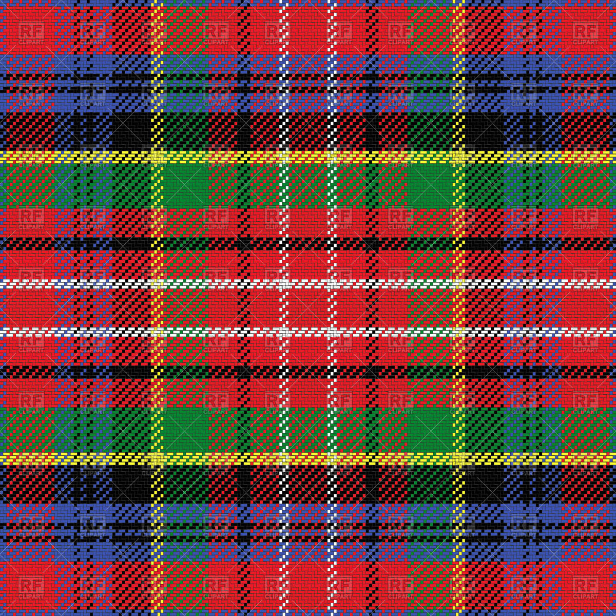 Caledonia Scottish tartan Vector Image #44063.