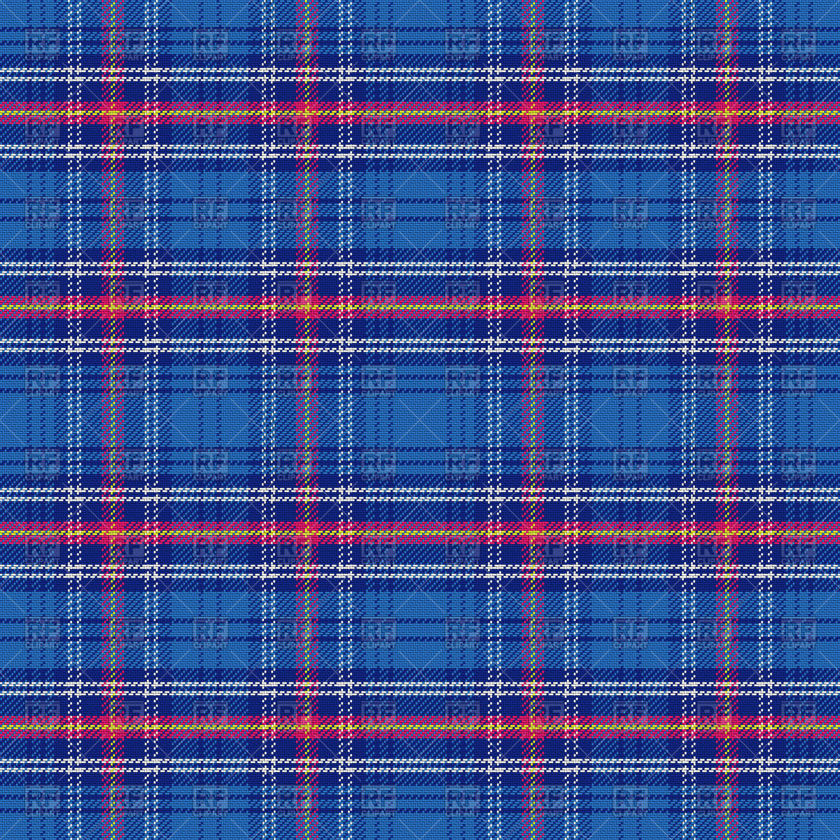 Seamless pattern of blue Scottish tartan Vector Image #67410.