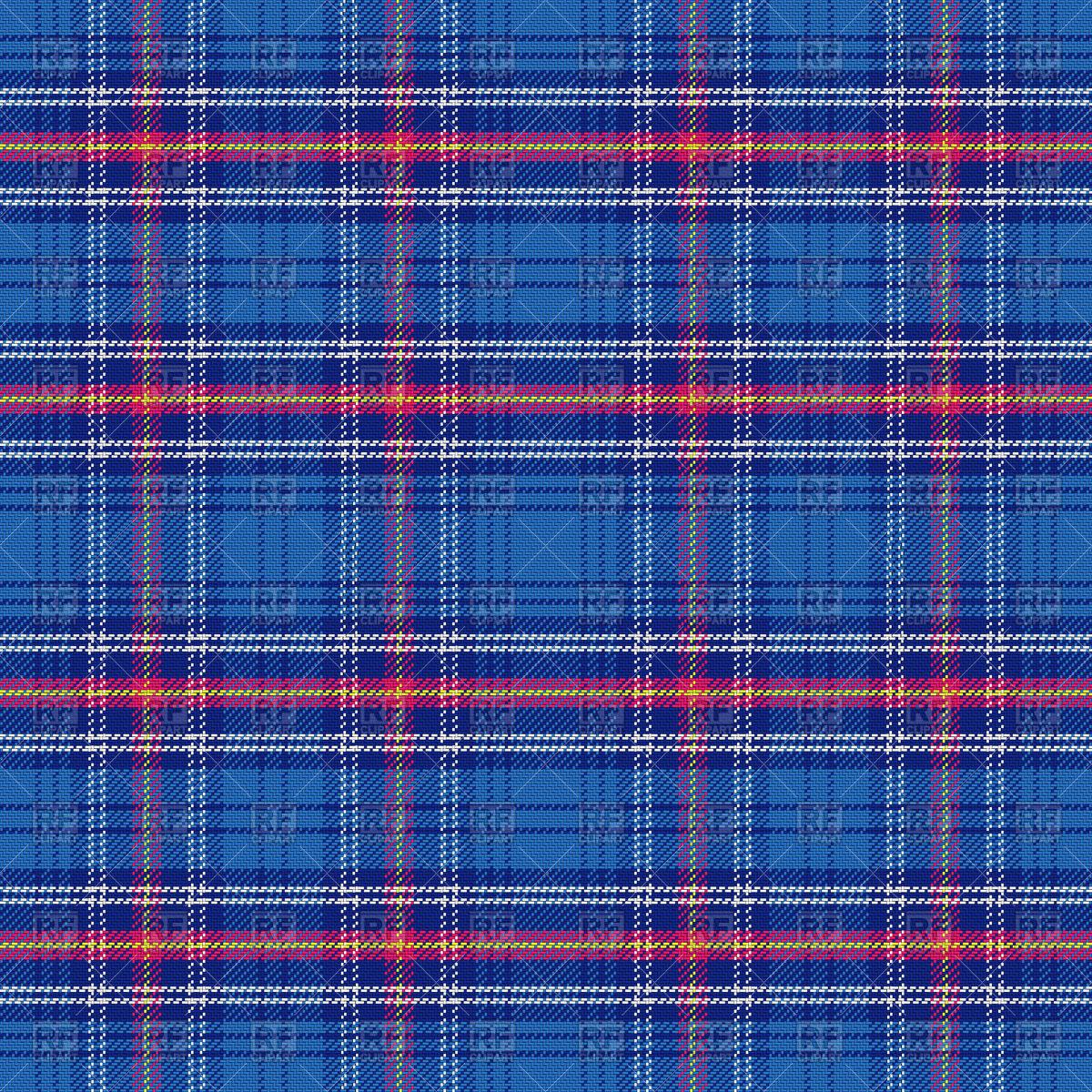 Seamless pattern of blue Scottish tartan Vector Image #67410.
