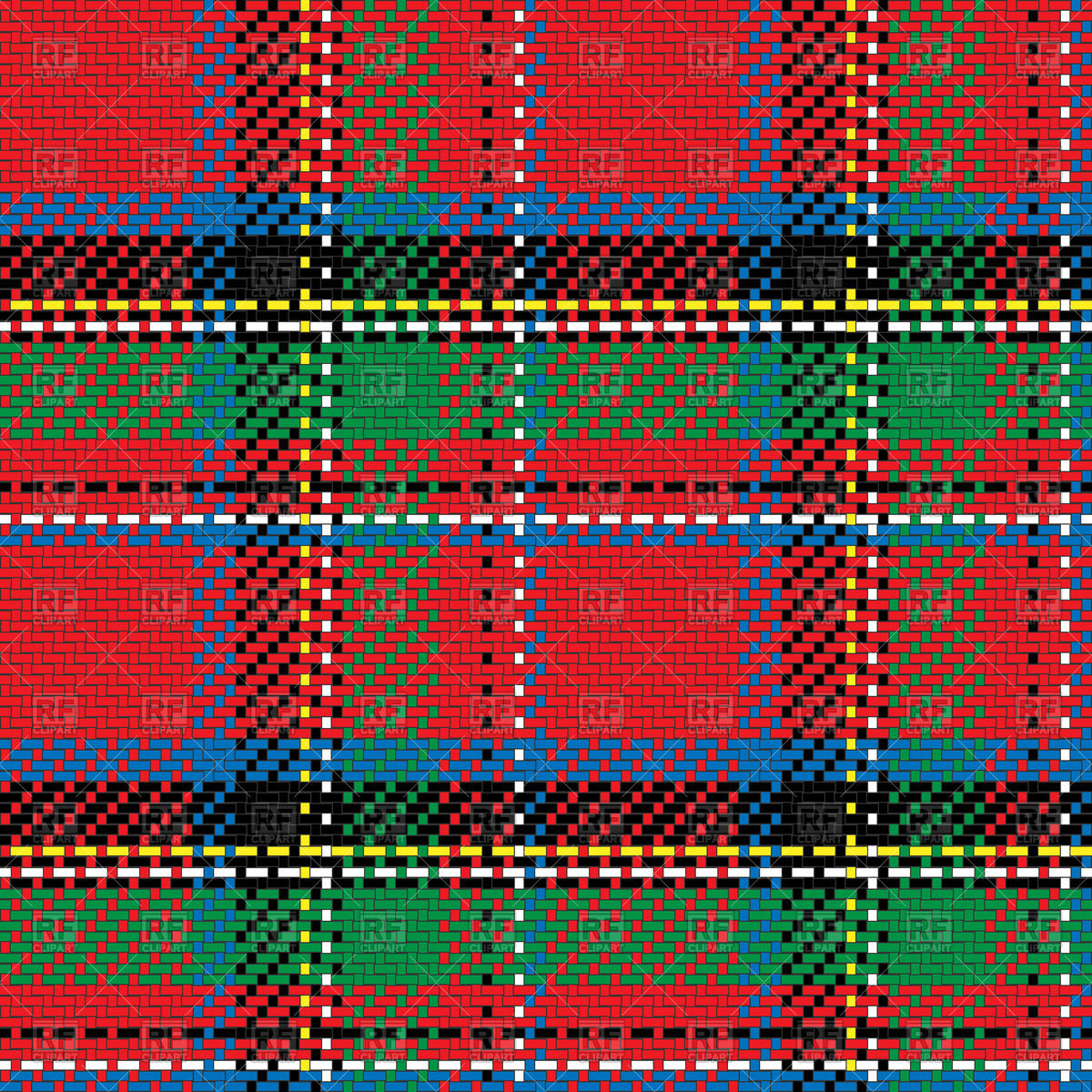 Scottish tartan Royal Stewart Vector Image #44083.