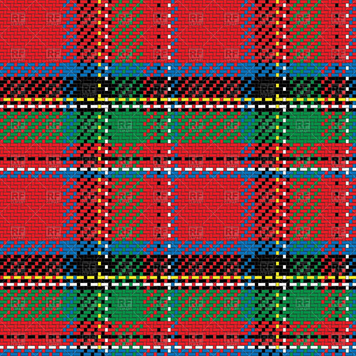 Scottish tartan Royal Stewart Vector Image #44083.