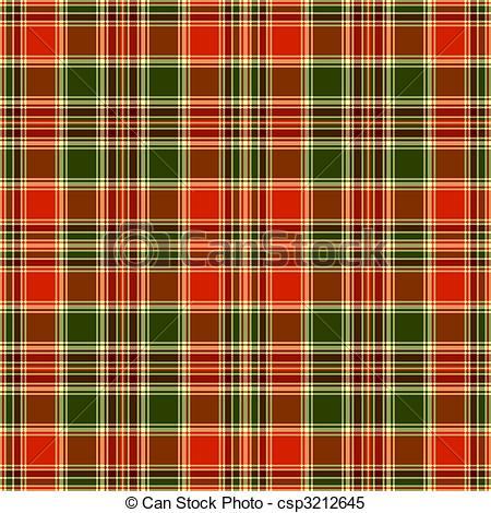 Clipart Vector of Seamless tartan pattern.