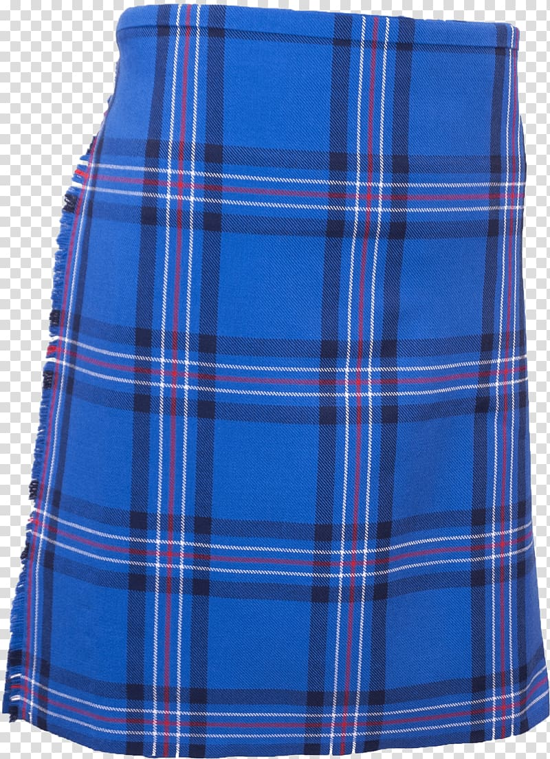 Blue, white, red, and black plaid skirt, Blue Tartan Kilt.
