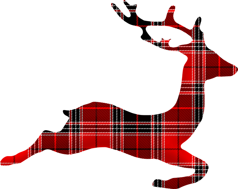 Plaid Clipart reindeer 5.