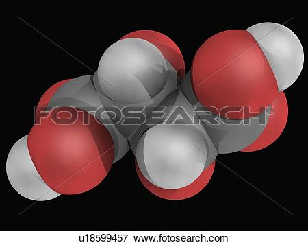 Stock Illustration of Tartaric acid molecule u18599457.