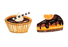 Tartlets Cream Stock Illustrations.