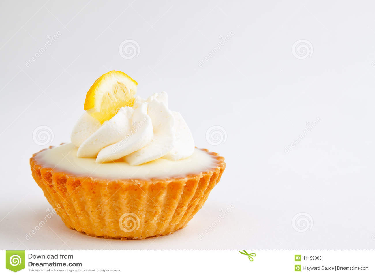 Mini Lemon Tart Royalty Free Stock Image.