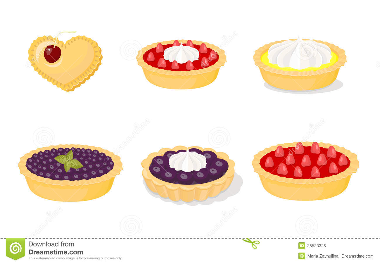 Fruit Tarts Stock Illustrations.