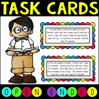 Open Ended Math Task Cards for Higher Level Thinking.