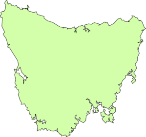 Blank Map Of Tassie Clip Art at Clker.com.