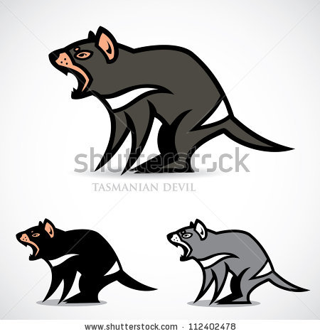 Tasmanian Devil Stock Images, Royalty.