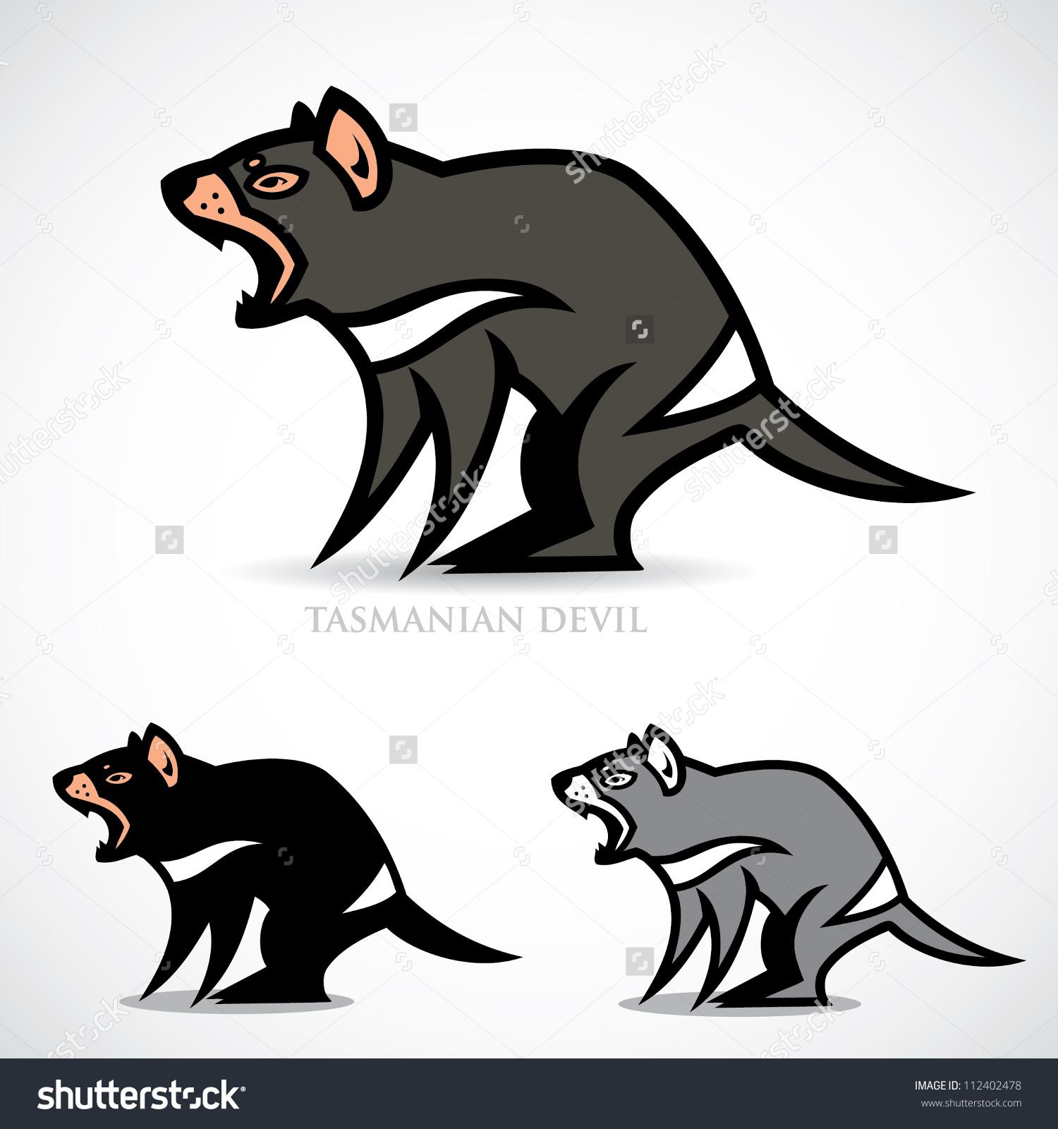Tasmanian Devil Vector Illustration Stock Vector 112402478.