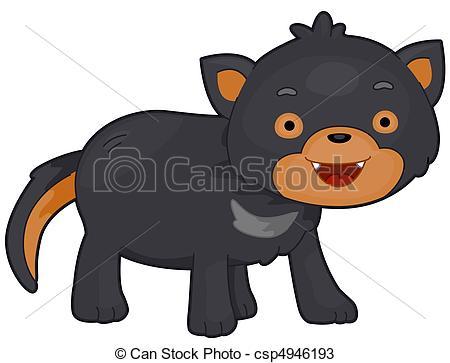 Drawings of Tasmanian Devil.