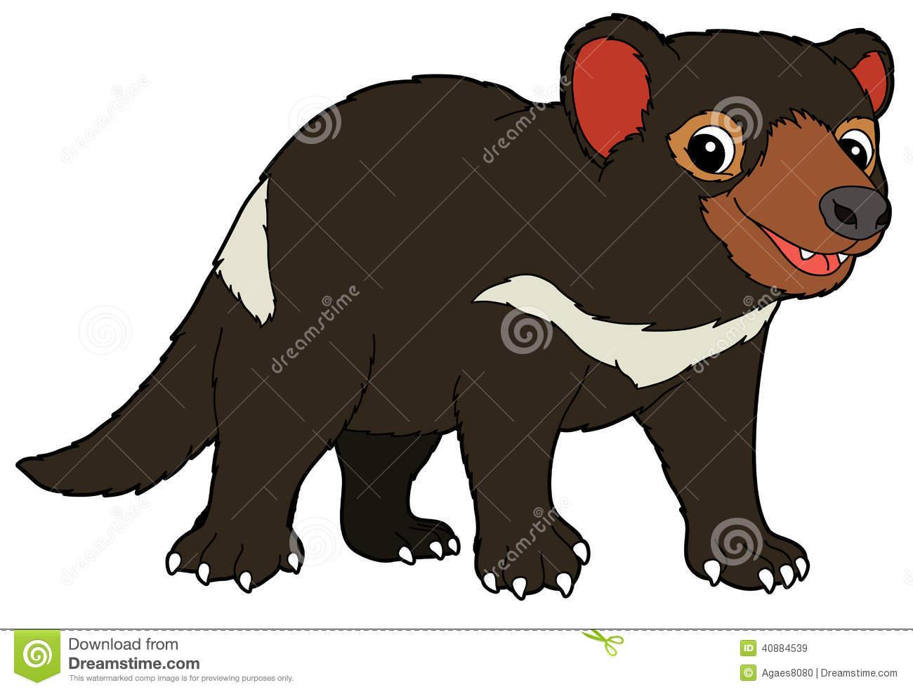 Clipart cute tasmanian devil.