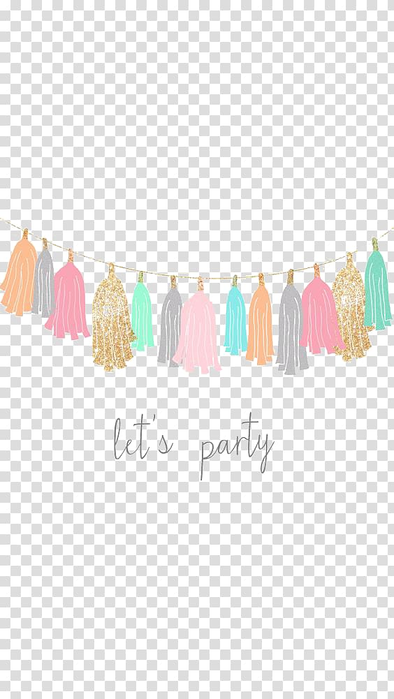 Multicolored tassel , Birthday Party , Cartoon ribbon.