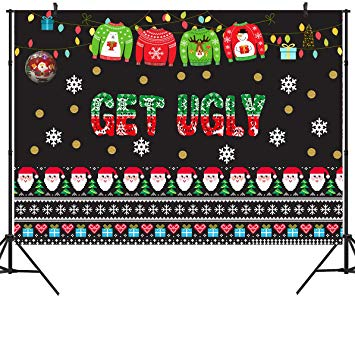 Amazon.com : DULUDA 9X6ft Ugly Christmas Sweater Party.