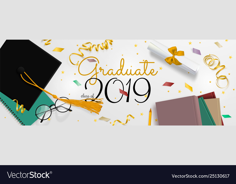 Graduation banner background congrats.