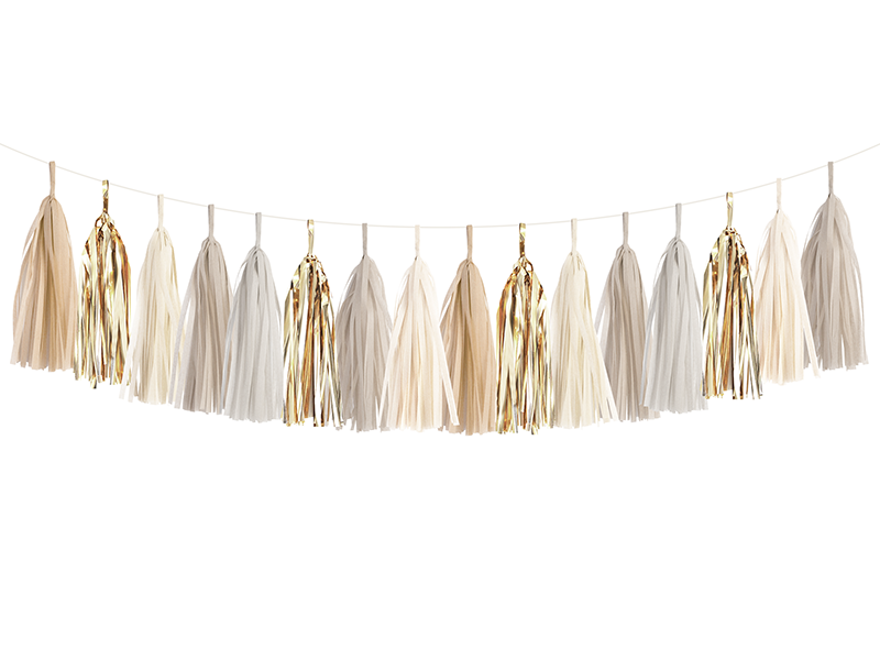 Champagne Gold Tassel Garland Kit.