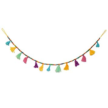 Multi Colored Tassel and Bead Garland.