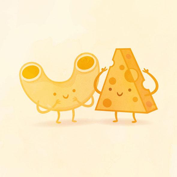 Taste Buds, Adorable Illustrations of Perfect Food Pairings.