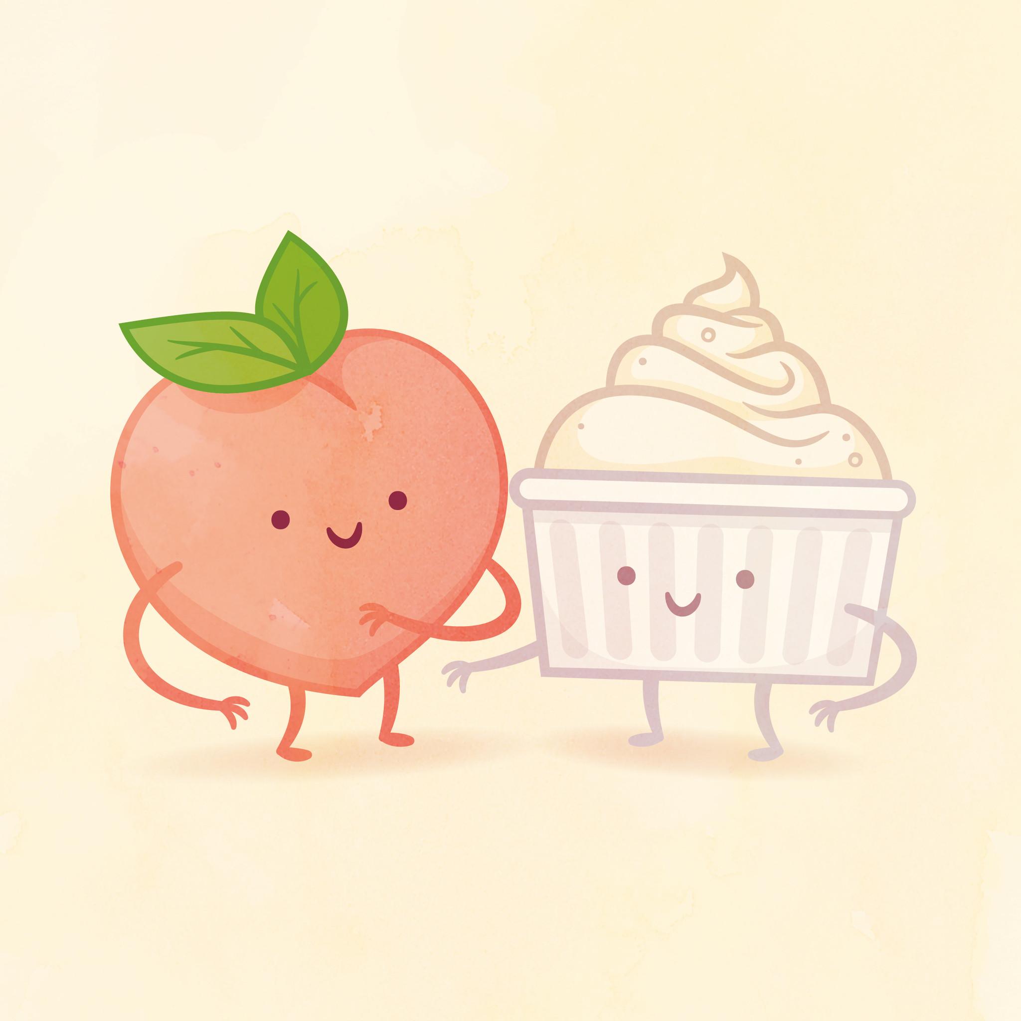 peach and cream x philip tseng // taste buds series.