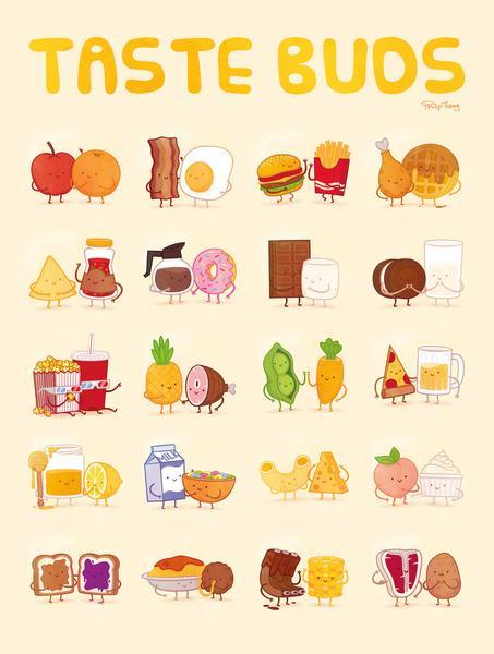 Taste Buds Poster by Philip Tseng.
