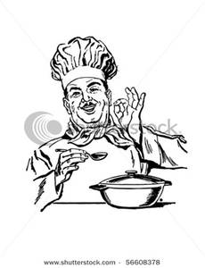 Art Image: Italian Chef Taste Testing His Food.