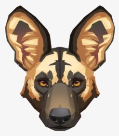 African Wild Dog Dhole Clip Art.