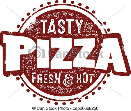 Clipart Vector of Tasty Pizza Sign.