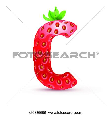 Clipart of Tasty alphabet k20386695.