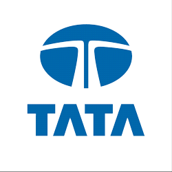Tata car company logo.
