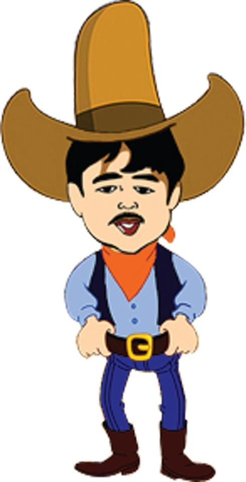 My tatay\'s cowboy caricature made by my brother Jeffrey T.