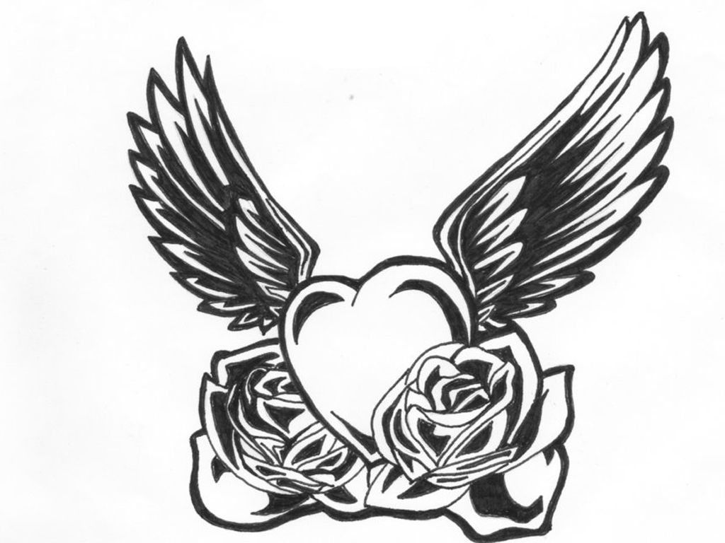 Black And White Heart Tattoo ClipArt Best.