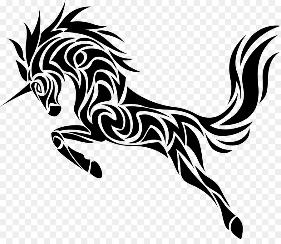 Unicorn Drawing clipart.
