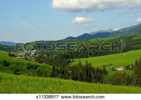 Picture of Rural landscape in Tatras mountains of Slovakia.