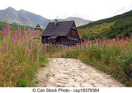 Stock Image of Gasienicowa Valley in Tatra Mountains, Poland.