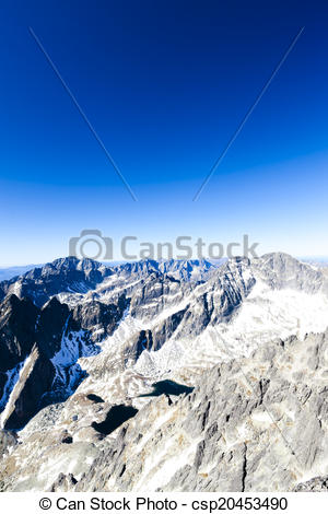 Stock Illustration of view from Lomnicky Peak, Vysoke Tatry (High.