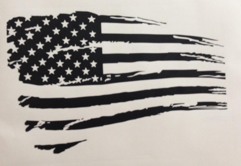 Tattered us flag clipart.