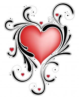 Swirl Heart Tattoo.