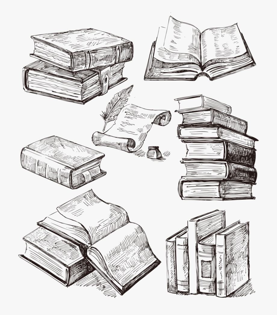 Tattoo Idea Drawing Book Books Cartoon Clipart.