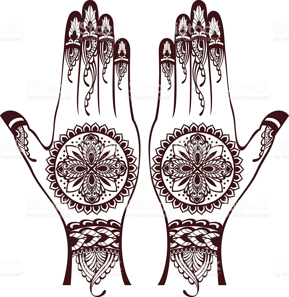 Henna Hand Clipart.