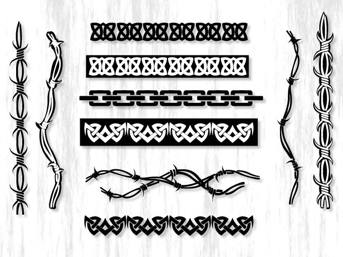 Borders Horizontal Elements Png Eps PSd Instant Download Digital.