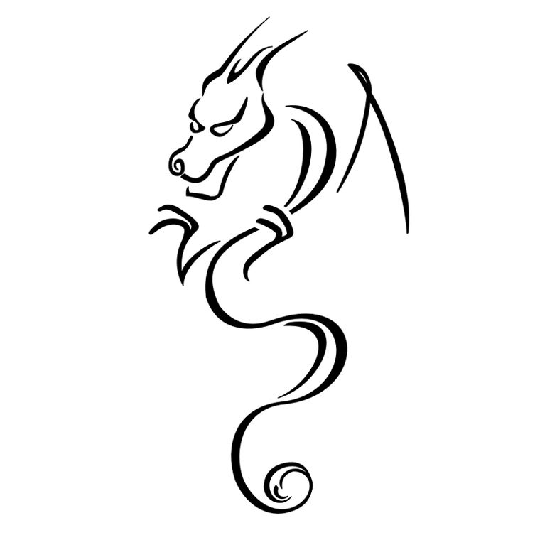 Small Dragon Tatoos ClipArt Best Clipart.