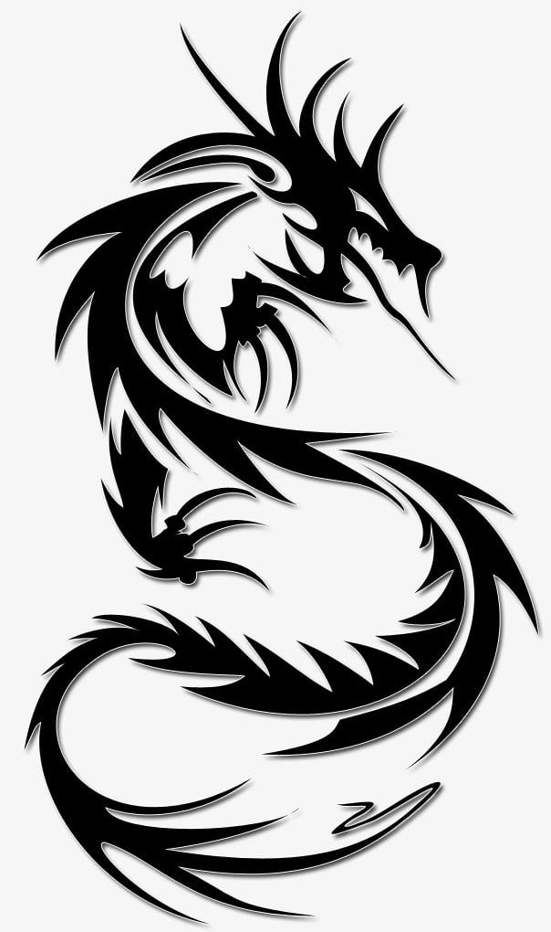 Dragon Tattoo PNG, Clipart, Black, Cut, Decoration, Dragon.