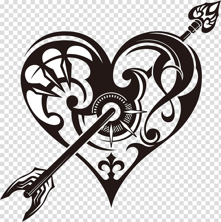 Tattoo Heart Drawing , heart transparent background PNG.